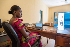 Woman in the office of the West African Museums Programme