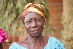 A portrait of a elderly woman