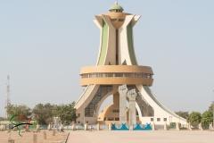 The Monument aux Heros Nationaux in Ouagadougou