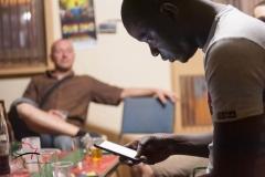 Man looking at a smart phone
