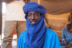 A portrait of a Tuareg man