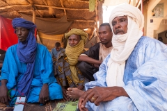 A group of Tuareg men