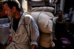 Vendors in a spice market in Cairo