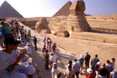 Tourists at the Great Sphinx of Giza