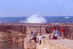 People fishing on the Mediterranean Sea