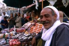 Vendors at a market in Alexandria