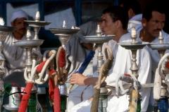 Men smoking hookah in Birqash