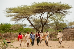 A group of nomads walking together