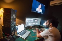 Man working in an editing suite