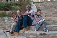 Portrait of Ndumba Kamwanyah and his family.