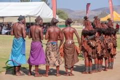 Men and women himba tribe members