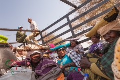 Truck filled with Herero Tribe women