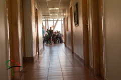 Hallway of  Baylor College of Medicine International Pediatric AIDS Initiative
