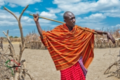 A portrait of a Maasai warrior