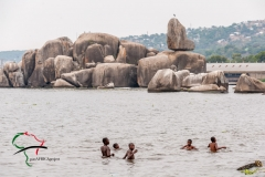 Children swimming in Lake Victoria