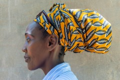 Portrait of a woman from the Bemba tribe