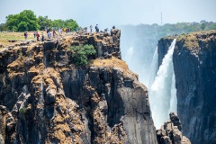 People on top of Victoria Falls