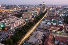 Aerial photograph of downtown Lusaka