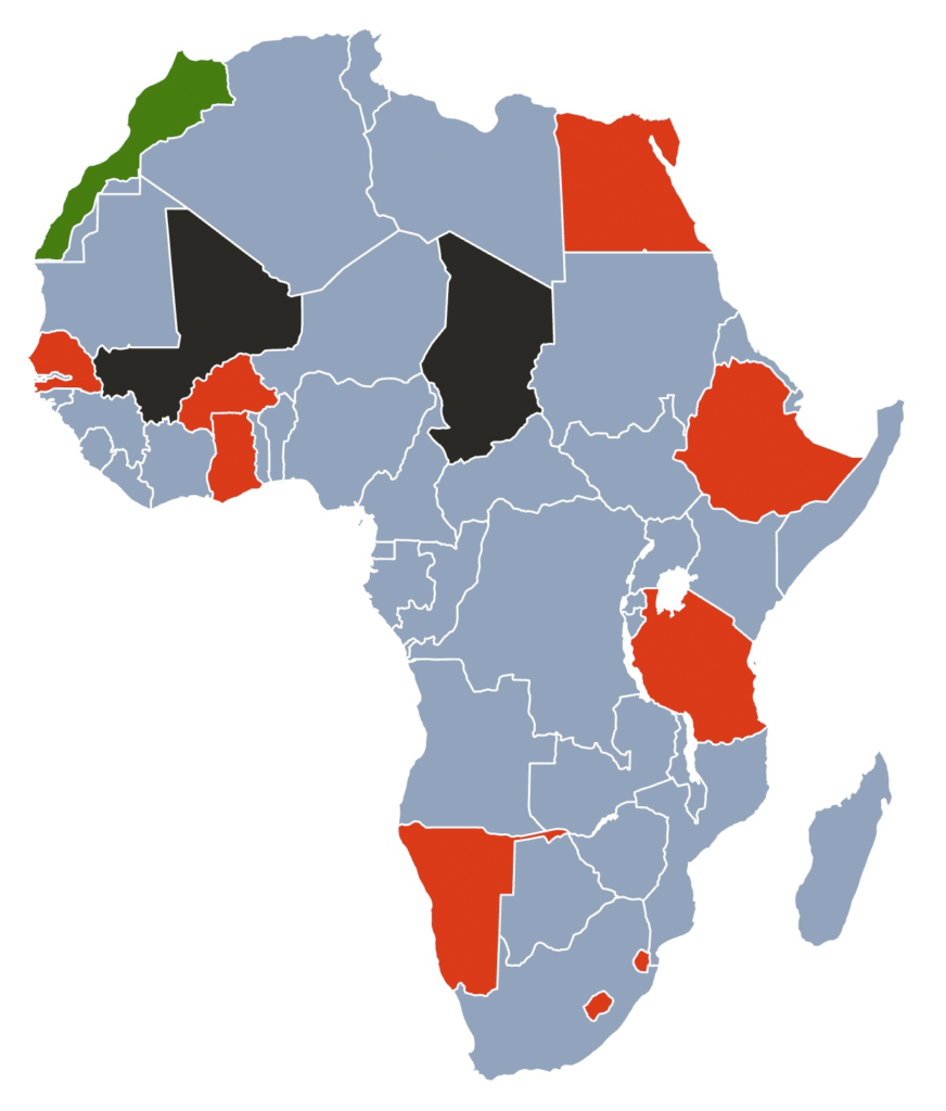 panAFRICAproject map