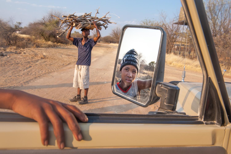 Gathering firewood - Gogobis, Namibia