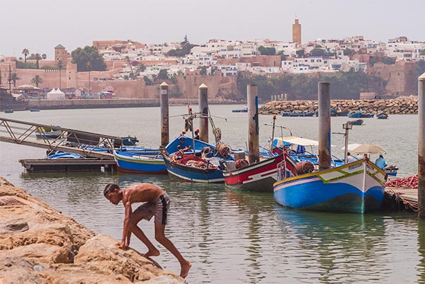 waterfront in Morocco
